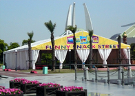 Long Life Span Movable White Marquee Tent , 300 People Marquee Event Tent
