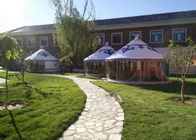 50 Square Meters Lodging / Restaurant Mongolian Yurt Tent Houses With Bathroom
