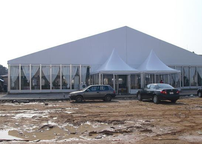 Sun Proof Large Luxury Glass Wall Marquee Party Tent Aluminum Alloy Frame