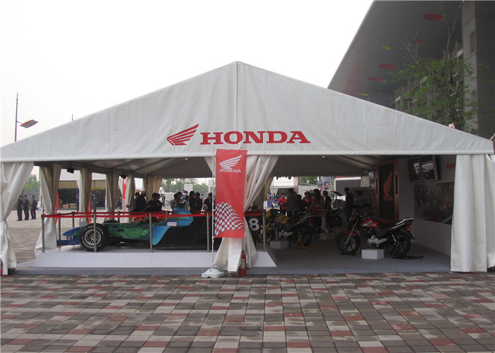 Waterproof Giant A Frame Tent Trade Show Tents , Sand White Outdoor Exhibition Tents